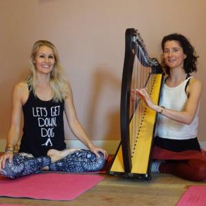 Yin yoga met harpmuziek door Nanda Lofvers